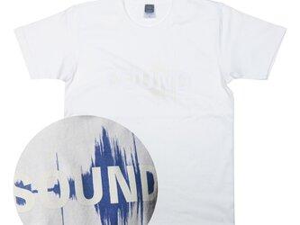 音楽 SOUND ヘヴィーウェイト Tシャツ 光で反応!青サウンドファイルが見える ユニセックスXS〜XLサイズの画像