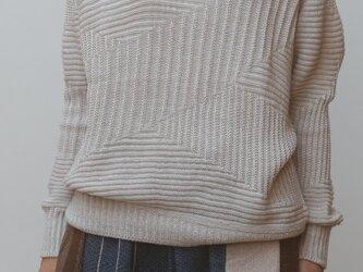 【NEW】TO kint ジグザグ wool90 cotton10の画像