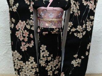 27センチドール着物  宵桜の画像