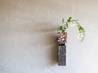 伊豆土の掛花(茶×グレー)の画像