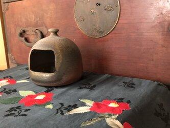セールになりました。ヴィンテージ帯から紅椿タペストリー  リバーシブルの画像