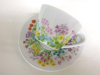 野原のカップ&ソーサー1(手描き)の画像