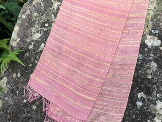 絹手紡ぎストールFの画像
