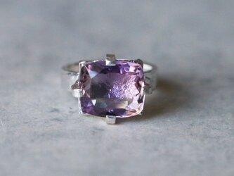 古代スタイル*天然アメジスト 指輪*9号 SVの画像