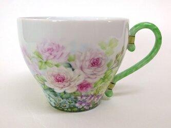 花園(薔薇)マグカップ(手描き)の画像