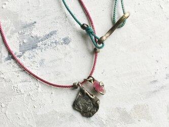原石チョーカー ルビーの画像