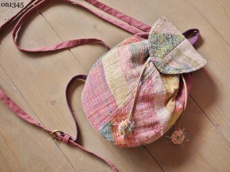 ◆SALE◆手織り なすリュックの画像