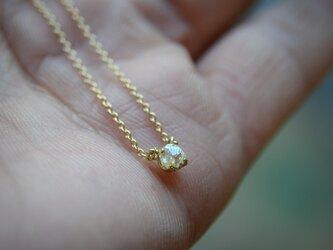 ラフ ダイヤモンド(0.23ct)のプチペンダントネックレスの画像