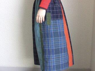 チェックのスカート ●76センチ丈● 裏地ありの画像