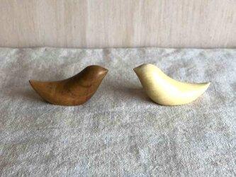 ことりの箸置きペアセット(さくら&みかん)tori-2の画像
