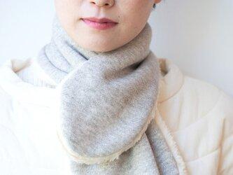 Organic Cotton Fur ふわふわネックウォーマー(ヤクグレー)の画像