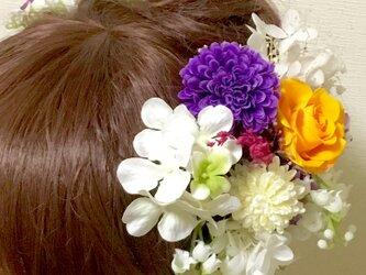 成人式 すずらんの和風髪飾りパーツセットの画像