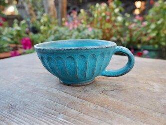 ブルーの器 カップ[18Dec-28]《釉薬》の画像