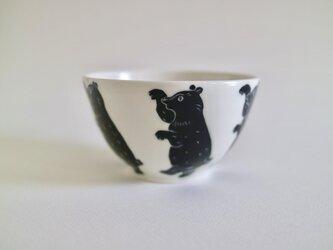 どうぶつボウル(小) クマ   黒の画像