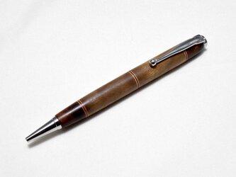 【デザートアイアンウッド寄木】手作り木製ボールペン スリムライン CROSS替芯の画像
