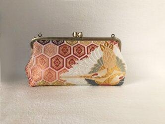 クラッチバッグ 亀甲繋ぎ 向鶴菱の画像