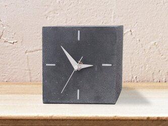 コンクリート置き時計ブラック Atypeの画像