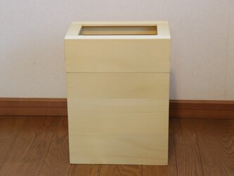 「ひば」  ごみ箱A型(L)  /EA2L[注文制作]の画像