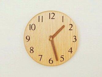 直径24cm 掛け時計 オーク【1812】の画像