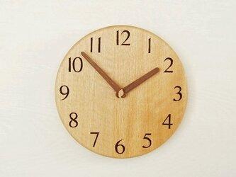 直径24cm 掛け時計 オーク【1813】の画像