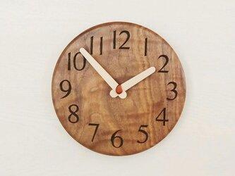 直径19.5cm 掛け時計 ウォールナット【1814】の画像