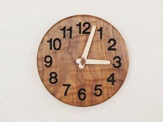 直径20cm 掛け時計 ウォールナット【1815】の画像