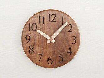 直径19.5cm 掛け時計 ウォールナット【1816】の画像