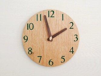 直径23cm 掛け時計 オーク【1820】の画像