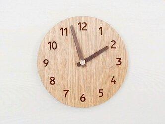直径23cm 掛け時計 オーク【1821】の画像