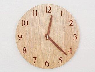 直径28cm 掛け時計 オーク【1822】の画像