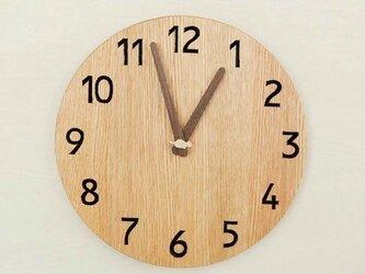 直径28cm 掛け時計 オーク【1823】の画像
