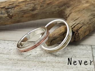 R-NeverW4 - 拘束する真鍮,銅のワイヤーリング 幅4mmの画像