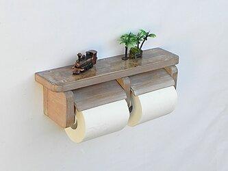 木製トイレットペーパーホルダー Ver.3(オーク シャビー)の画像