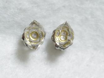 (1点もの)ハーキマーダイヤモンドのスタッドピアス・M(チタンポスト)の画像