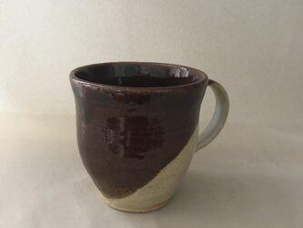 飴釉と唐津釉のマグカップの画像