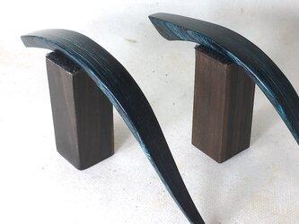 インディゴブルー美しいです。木製かんざし 2タイプからの画像
