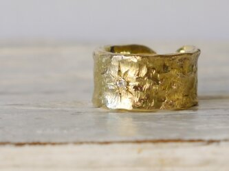 Star open ring(brass)の画像