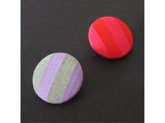 2色から選ぶ[ブローチ&クリップ]ストライプ/B−5_L_COLORの画像