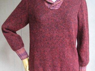 ふんわりモヘアのセーターの画像