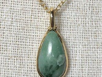SALE!天然翡翠ネックレス5.42ct☆ ミャンマー産の原石から磨いた1点もの!の画像