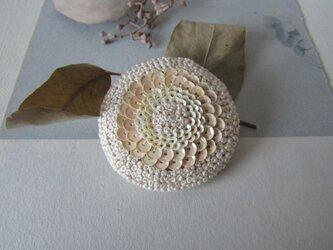 coquelicot 手刺繍ブローチの画像
