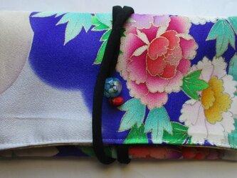 送料無料 花柄の振袖で作った和風財布・ポーチ 4004の画像