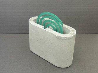 蚊取り線香ホルダー/蚊遣り コンクリート製の画像