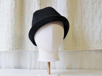 HELMA HAT | WOOLBEAVER CHARCOAL 【M】の画像