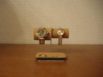 バレンタインデーに 左男性用、右女性用トレイ付き腕時計スタンド No.130226の画像