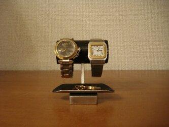 バレンタインデーに チビ!ブラックトレイ付き腕時計スタンド No.130226の画像