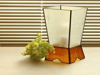 銀河ガラスのテーブルランプの画像