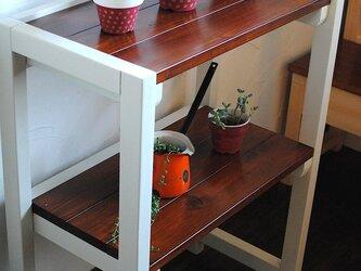 new☆あると便利な2段テーブルラック♪パソコン机や花台にも♪の画像