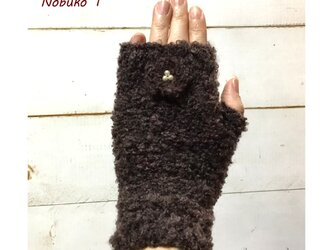 スマホもらくらく!花モチーフ付きやわらか手袋の画像