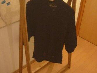 小さなハンガーラック/高さ120cm【折りたたみ式】の画像